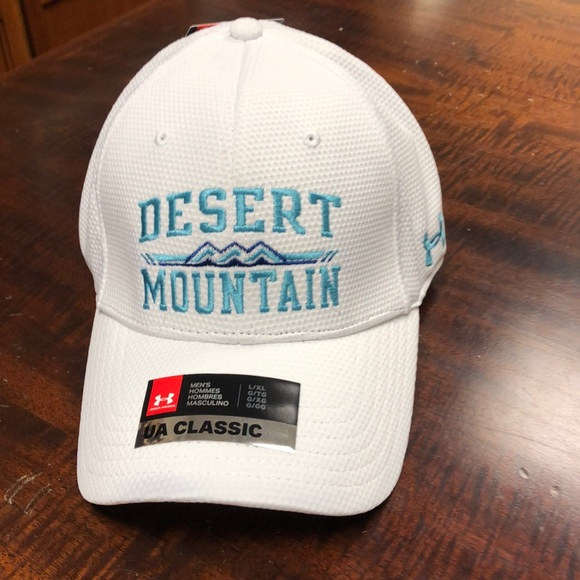 1bdc2c152cf Under Armour stretch fit L XL golf hat Desert Mt